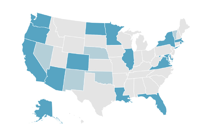 Map of states using CLASS in QRIS