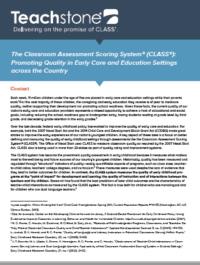 Teachstone's Classroom Assessment Scoring System